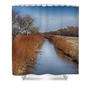 Bosque Del Apache Wetlands- New Mexico Shower Curtain