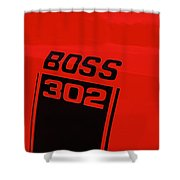 Boss 302 Emblem On A Car Shower Curtain