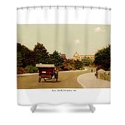 Boston - Back Bay Fens Speedway - 1915 Shower Curtain