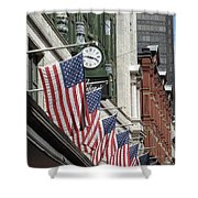 Boston 4th Of July Shower Curtain