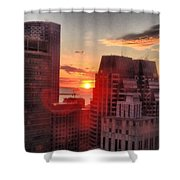 Boston At Dawn Shower Curtain