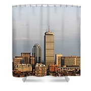 Boston Back Bay With The Prudential Tower Shower Curtain by Jannis Werner