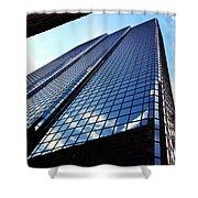 Boston Blue Glass Shower Curtain