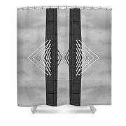 Boston Bridge Abstract Shower Curtain