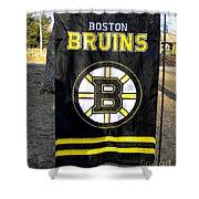 Boston Bruins Flag Shower Curtain