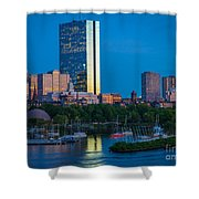Boston By Night Shower Curtain