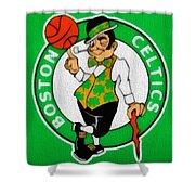 Boston Celtics Canvas Shower Curtain by Dan Sproul
