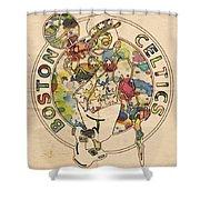 Boston Celtics Logo Vintage Shower Curtain