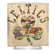 Boston Celtics Poster Art Shower Curtain
