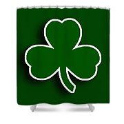 Boston Celtics Shower Curtain by Tony Rubino