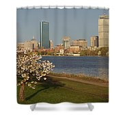 Boston Charles River On A Spring Day Shower Curtain