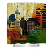 Boston City Collage 2 Shower Curtain by Corporate Art Task Force