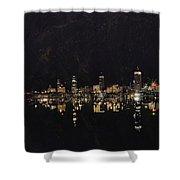 Boston City Skyline 2 Shower Curtain