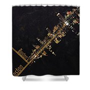Boston City Skyline Shower Curtain