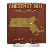 Boston College Eagles Chestnut Hill Massachusetts College Town State Map Poster Series No 020 Shower Curtain