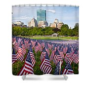 Boston Common Flags Shower Curtain
