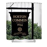 Boston Common Ma Shower Curtain