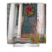Boston Doorway Two Shower Curtain