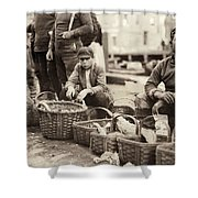 Boston Fish Market, 1909 Shower Curtain