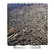 Boston From Above Shower Curtain