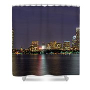 Boston From Memorial Drive Shower Curtain by Joann Vitali