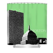 Boston Hancock Tower - Sage Shower Curtain