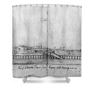 Boston Harbor, 1778 Shower Curtain