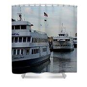 Boston Harbor Cruise Three In A Row Shower Curtain
