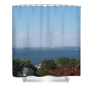 Boston Harbor From Hull Shower Curtain