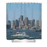 Boston Harbor July Fourth Shower Curtain