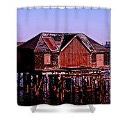 Boston Harbor Pier Dwelling Shower Curtain