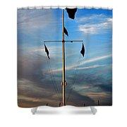 Boston Harbor Twilight Shower Curtain