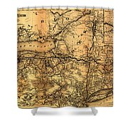 Boston Hoosac Tunnel And Western Railway Map 1881 Shower Curtain