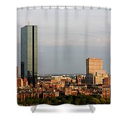 Boston John Hancock Tower Skyline Shower Curtain