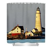 Boston Light Shower Curtain