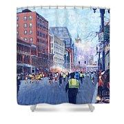Boston Marathon Angels Shower Curtain