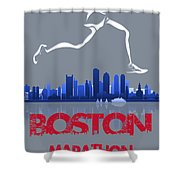 Boston Marathon3 Shower Curtain