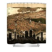 Boston Old And New Shower Curtain