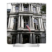 Boston Old City Hall Shower Curtain
