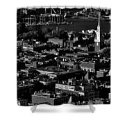 Boston Old North Church Black And White Shower Curtain