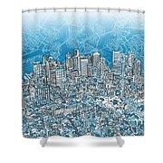 Boston Panorama Abstract 2 Shower Curtain
