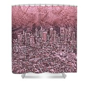 Boston Panorama Abstract Shower Curtain