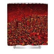 Boston Panorama Red Shower Curtain