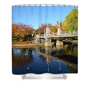 Boston Public Garden Autumn Shower Curtain
