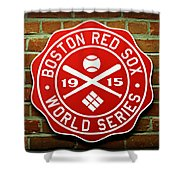 Boston Red Sox 1915 World Champions Shower Curtain by Stephen Stookey