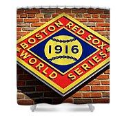 Boston Red Sox 1916 World Champions Shower Curtain