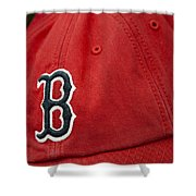 Boston Red Sox Baseball Cap Shower Curtain