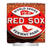 Boston Red Sox World Series Champions 1918 Shower Curtain by Stephen Stookey