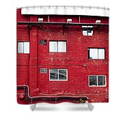 Boston Red Wall Shower Curtain