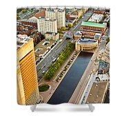 Boston Rooftops Shower Curtain